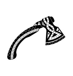 Viking ax with patterns vector