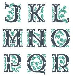 vintage alphabet Part 2 vector image vector image