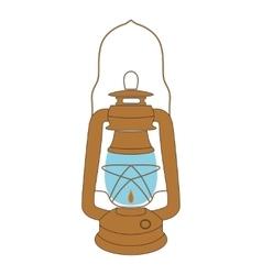 Vintage kerosene lamp over white vector