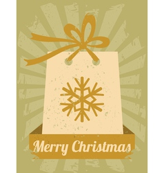 Vintage christmas card vector
