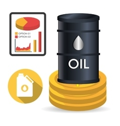 Petroleum and oil price design vector