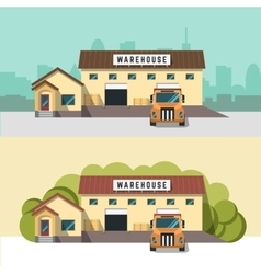 Logistics and warehouse vector