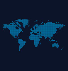 world continents map - dots style vector image