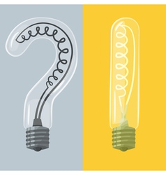 Question mark and exclamation mark lightbulbs vector
