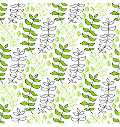 Leaves seamless pattern nature background can be vector