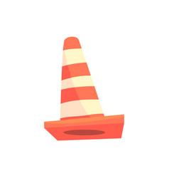 Traffic cone cartoon vector