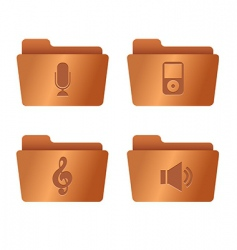 Copper folders internet vector