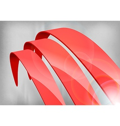 Red abstract curves vector