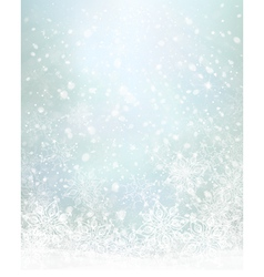 Winter blue snowflakes background vector