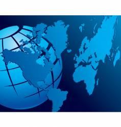 map globe vector image