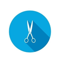 Hairdresser scissors tool icon cut symbol vector