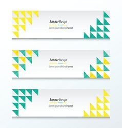 Triangle pattern green and yellow styles vector