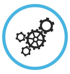 Mechanism flat rounded icon vector