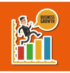 Business growth graphic design vector