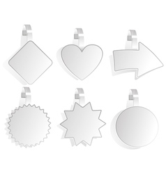 Set promotional wobblers vector
