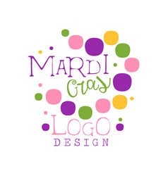 Abstract colorful festive logo design template for vector