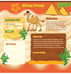 ackground for travel website vector image vector image