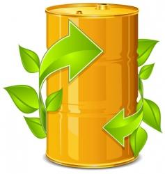 barrel with arrow vector image vector image