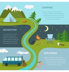 Camping template concept vector