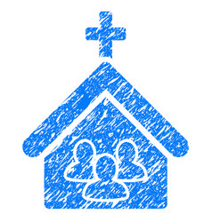 Church people grunge icon vector