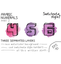 Colorful arabic numbers vector image vector image