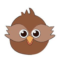 cute owl bird cartoon vector image vector image