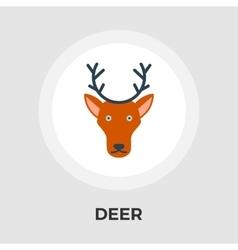 Deer flat icon vector