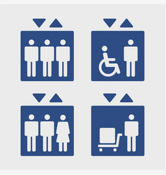 elevators sign set vector image vector image