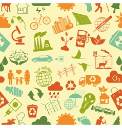 Environment ecology seamless pattern Environmental vector image vector image