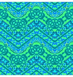Ethnic hand drawn pattern with zigzag lines vector