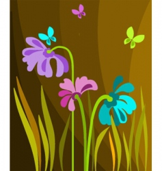 floral seasonal background vector image vector image