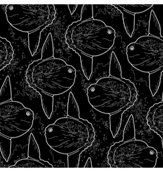Graphic sunfish pattern vector image vector image