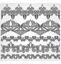 hand draw black flower ornament vector image vector image