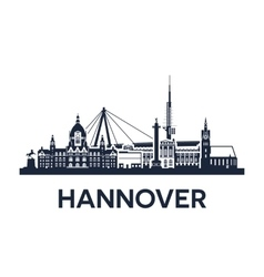 Hannover City Skyline vector image vector image