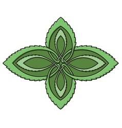 mint celtic knot vector image