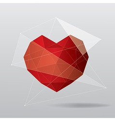modern geometrical heart background vector image vector image