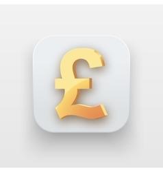 Money icon Symbol of Gold Pound vector image
