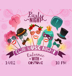 Night party advertising poster vector