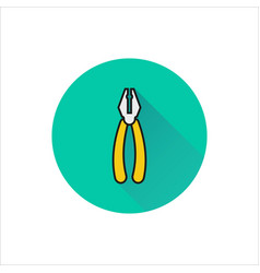 pliers icon on white background vector image