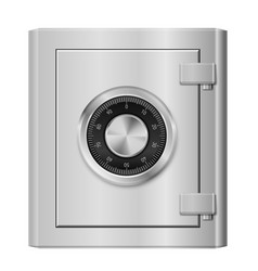 realistic steel safe on white background for vector image