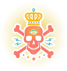 skull eye vector image