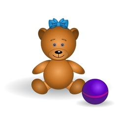 toy teddy bear vector image vector image