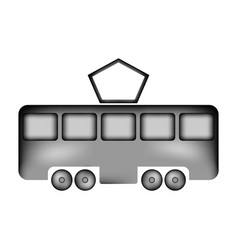 Tram sign icon vector