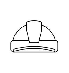 Worker security helmet vector