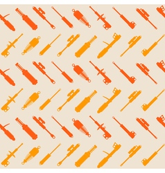 Seamless pattern with shock absorber vector