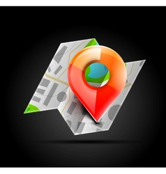 Map navigation icon vector image