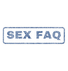 Sex faq textile stamp vector
