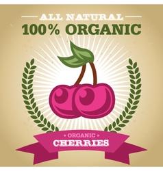 Organic cherry vector