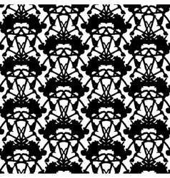 Hand painted pattern with thick inkblot vector