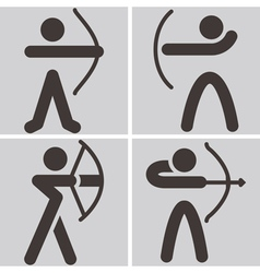 Archery icons vector